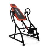 Klarfit Relax Zone Pro Inversionsbank Rücken Hang-Up Rückentrainer (bis 150 kg, verstellbar, leichte Montage) (schwarz-orange) -